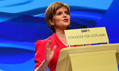 Nicola Sturgeon speaks at the SNP's campaign conference.